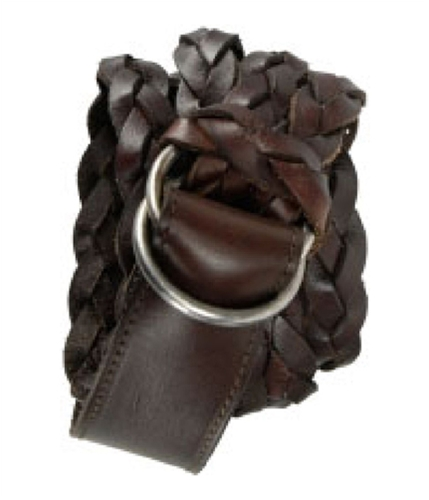 Aeropostale Womens Leather Braided Belt mediumredbrown S