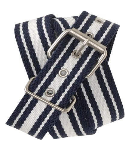 Aeropostale Womens Petite Stripe Webbed Woven Belt navyniblue S