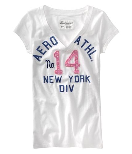Aeropostale Womens #14 Aero Graphic T-Shirt bleachpink XS