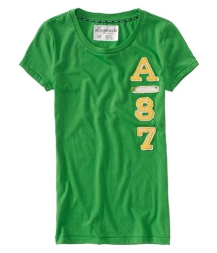 Aeropostale Womens A 87 Crewneck Graphic T-Shirt fairwaygreen S
