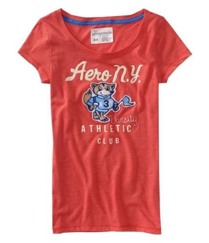 Aeropostale Womens Puff Paint Graphic T-Shirt blaze XS