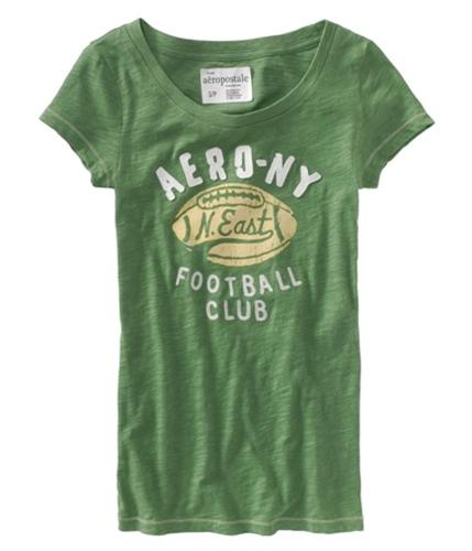Aeropostale Womens Ny N.east Football Graphic T-Shirt lilygreen XS