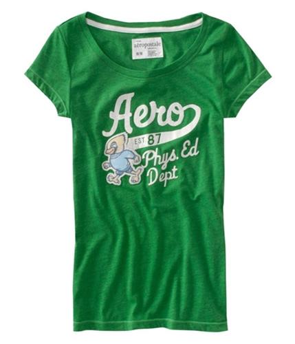 Aeropostale Womens Aero Patch Graphic T-Shirt fairwaygreen XL