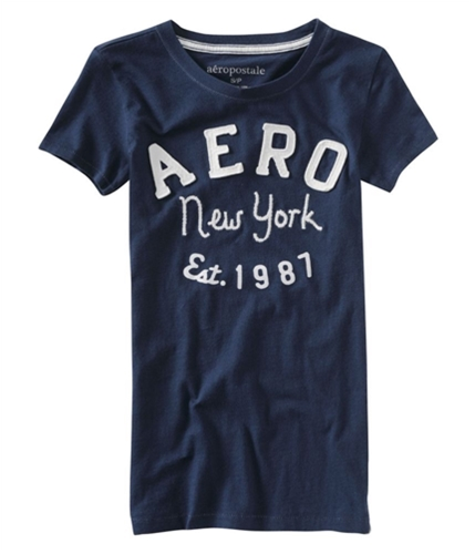 Aeropostale Womens New York Est 1987 Graphic T-Shirt navyniblue XS