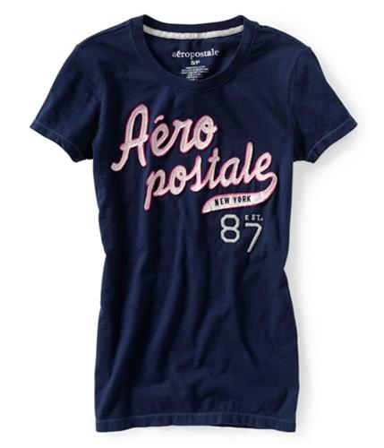Aeropostale Womens New York 87 Graphic T-Shirt navyni XL