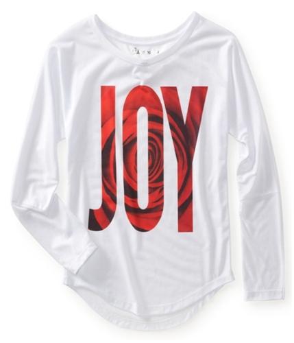 Aeropostale Womens Rose Print Joy Graphic T-Shirt 102 XS