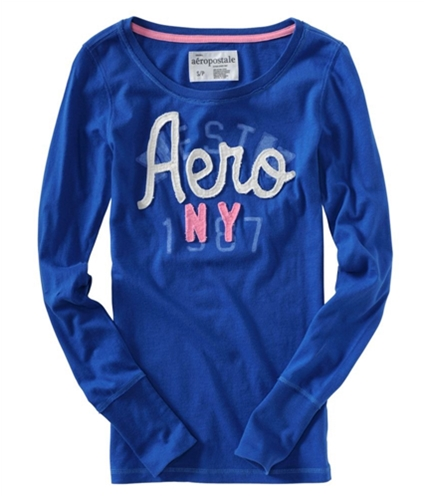 Aeropostale Womens Aero Ny Graphic T-Shirt seaportblue XS
