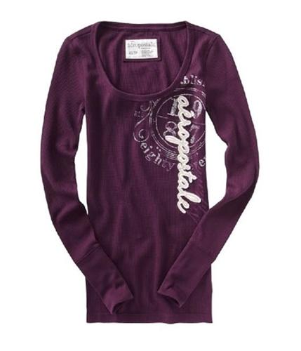 Aeropostale Womens Crewneck Thermal Sweater grapepurple S