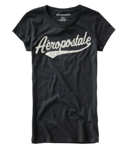 Aeropostale Womens Screenprint Graphic T-Shirt black XS