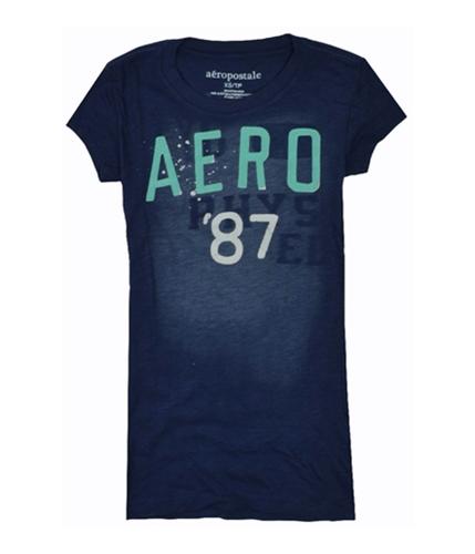 Aeropostale Womens Aero 87 Graphic T-Shirt navyblue XS