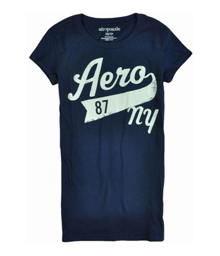 Aeropostale Womens Aero 87 Ny Screen Print Graphic T-Shirt navyniblue XS