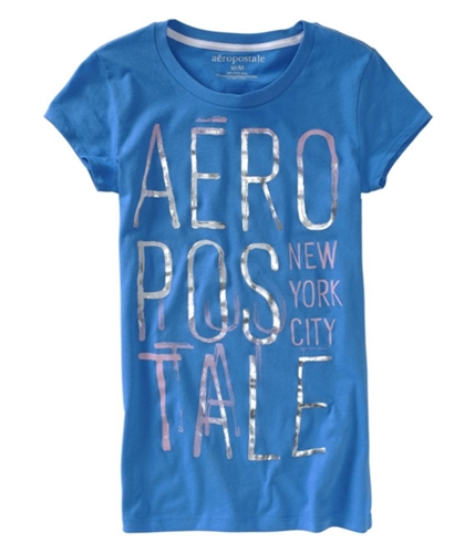 Aeropostale Womens Screen Print Graphic T-Shirt heavenlyblue XS