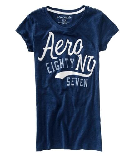 Aeropostale Womens Aero New York Graphic T-Shirt navyblue XS