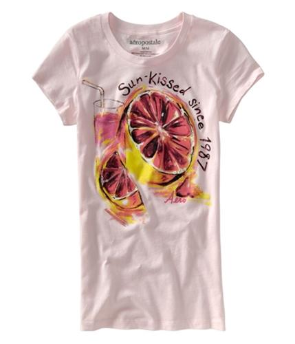 Aeropostale Womens Fruity Paint Graphic T-Shirt pinkvr XS