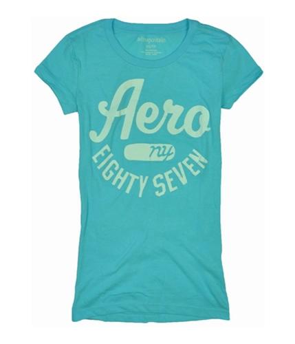 Aeropostale Womens Aero Ny Screen Print Graphic T-Shirt brtblue XS