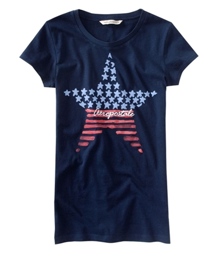 Aeropostale Womens 4th Of July Inspired Graphic T-Shirt navynightblue XS