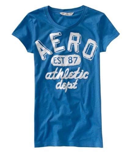 Aeropostale Womens Aero Athletic Dept Graphic T-Shirt cruiseblue XS