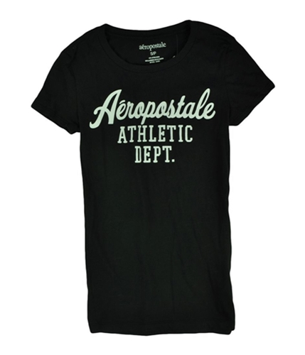Aeropostale Womens Athletic Dept Graphic T-Shirt black XS