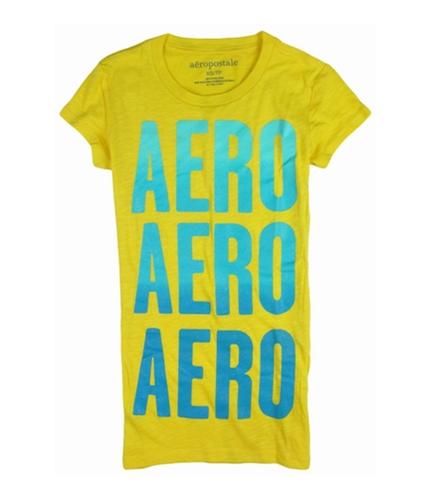 Aeropostale Womens Aero Glitter Graphic T-Shirt blondeteal XS