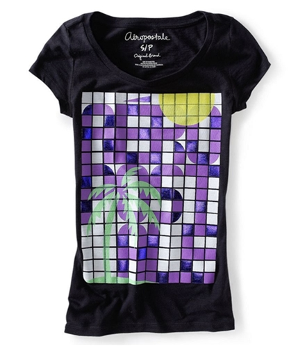 Aeropostale Womens Toucan Palm Tree Butterfly Graphic T-Shirt 001 XS