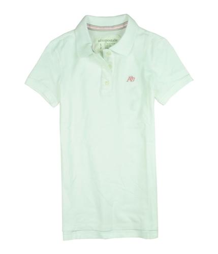 Aeropostale Womens A87 5 Button Polo Shirt bleachpink S