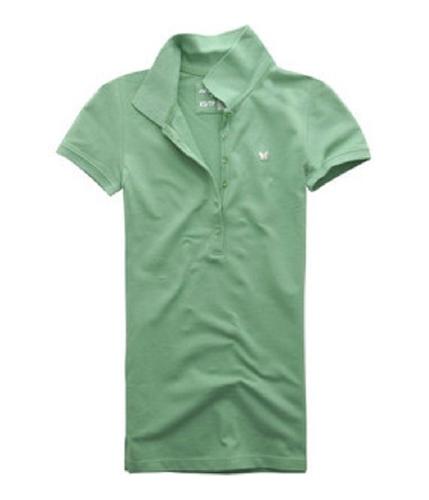 Aeropostale Womens Butterfly 6 Button Polo Shirt bluemi L