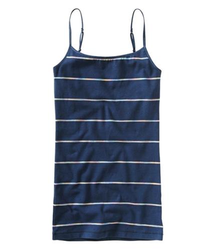 Aeropostale Womens Tie Dye Stripe Cami Tank Top navyni M