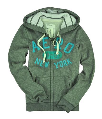 Aeropostale Womens Full Zip Up Aero New York Hoodie Sweatshirt mediumgray XS