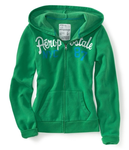 Aeropostale Womens Nyc 87 Zip Up Hoodie Sweatshirt 361 XS
