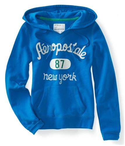 Aeropostale Womens 87 New York Embellished Hoodie Sweatshirt 121 L