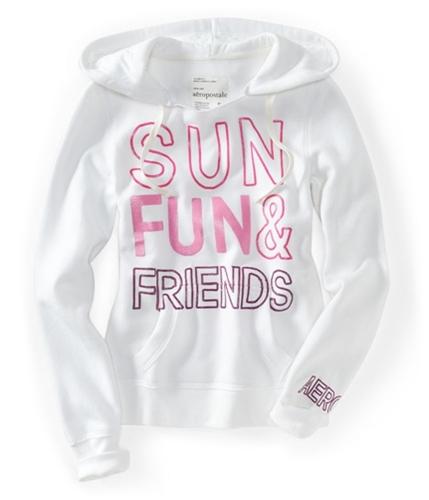Aeropostale Womens Sun Fun & Friends Pull Over Hoodie Sweatshirt 102 M