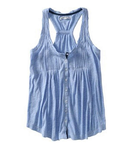 Aeropostale Womens Loose Fitted Tank Cami Tank Top blueme XL