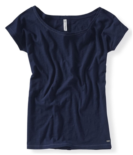 Aeropostale Womens Solid Graphic T-Shirt 404 XS