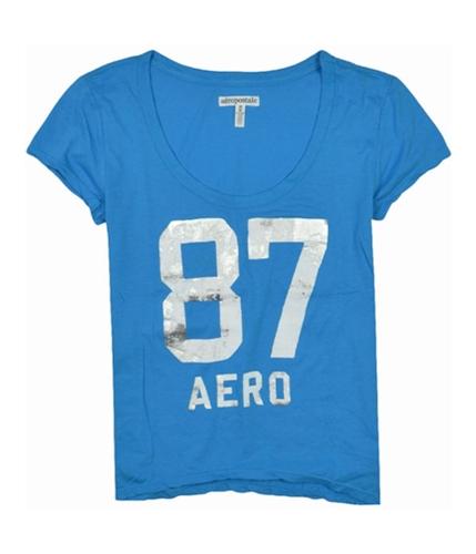 Aeropostale Womens 87 Aero Graphic T-Shirt mediumblue S
