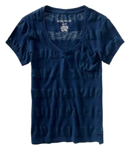 Aeropostale Womens Small Pocket Graphic T-Shirt navyni S