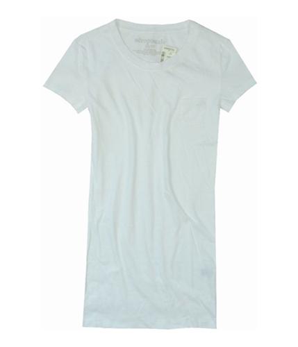 Aeropostale Womens A87 Pocket Graphic T-Shirt bleachwhite S