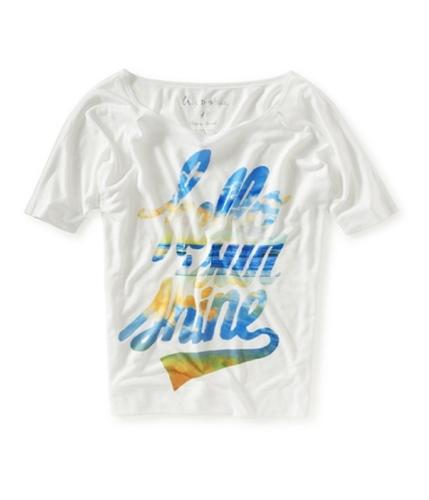 Aeropostale Womens Hello Sun Shine Graphic T-Shirt 102 XS