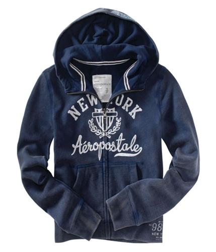 Aeropostale Womens Faded Hoodie Sweatshirt navyblue S