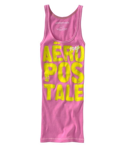 Aeropostale Womens Painted Graphic Lettering Stretch Tank Top lavende S
