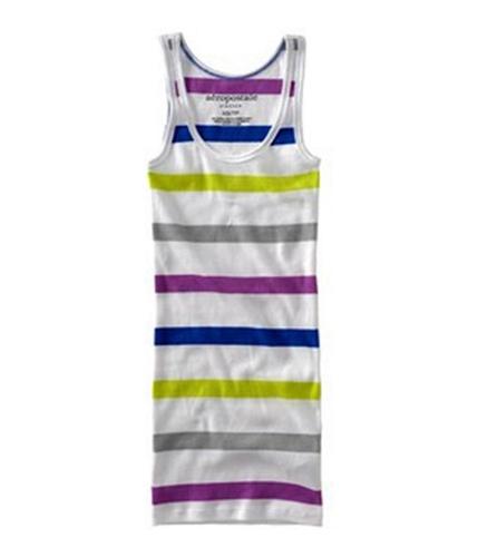 Aeropostale Womens Stripe Tank Pajama Sleep T-shirt loyal L