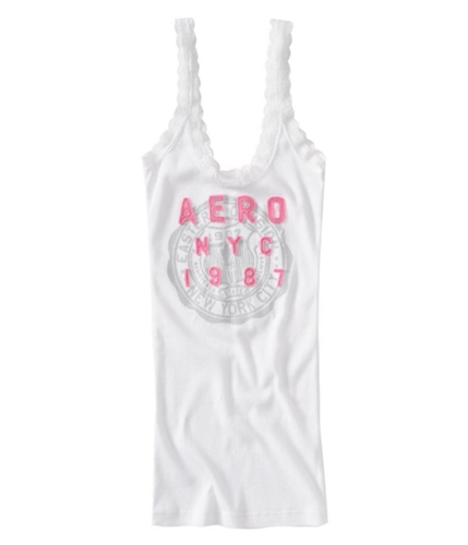Aeropostale Womens Ribbed Graphic T-Shirt bleachpink XS