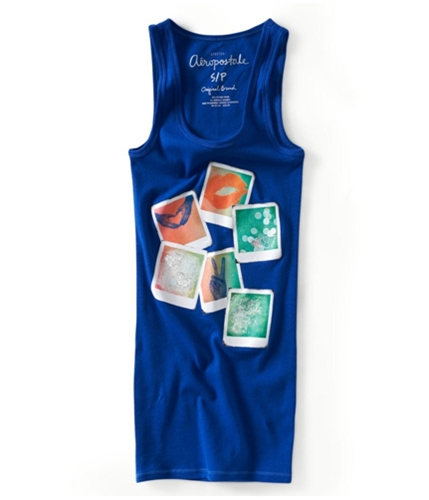 Aeropostale Womens Racer Back Pictures Tank Top 488 XS
