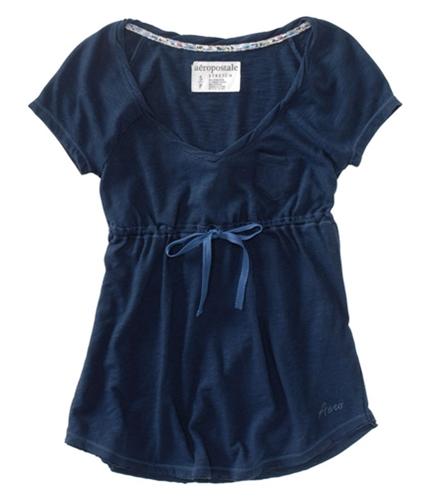 Aeropostale Womens S Aero Baby Doll Blouse navyniblue XS