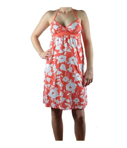 Aeropostale Womens Flowered Orange Summer Sundress coralborange S