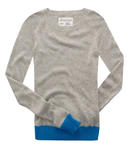 Aeropostale Womens Front Pockets Knit Sweater lththrgray XS