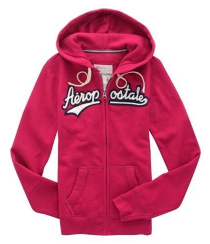 Aeropostale Womens Embroidered Hoodie Sweatshirt verryberrypink XS