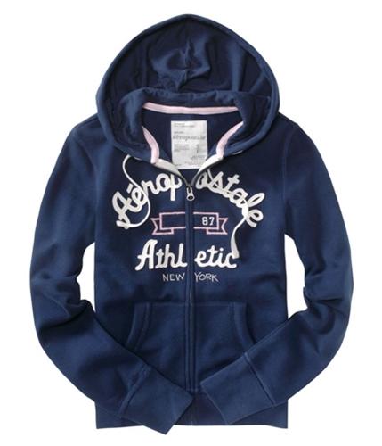 Aeropostale Womens Zip Up Hoodie Sweatshirt navynightblue XS