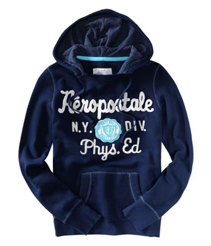 Aeropostale Womens N.y. Div. Phys. Ed Hoodie Sweatshirt navynightblue XS