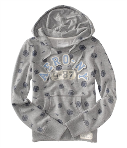 Aeropostale Womens Aero-ny Hoodie Sweatshirt lththrgray XS