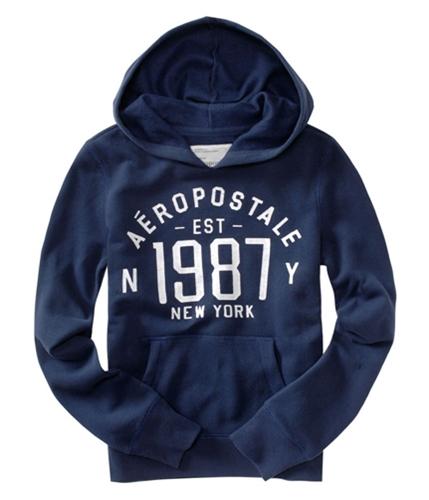 Aeropostale Womens Est 1987 Hoodie Sweatshirt navynightblue XS